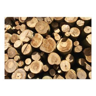 Holz Personalisierte Einladungskarte