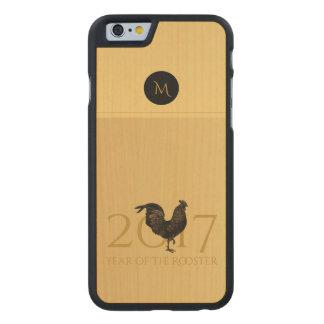 Holz Iphone des Vintager Hahn-chinesisches neuen Carved® iPhone 6 Hülle Ahorn