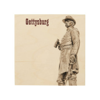 Holz-Leinwand Gettysburg-Statue-2 Holzleinwand