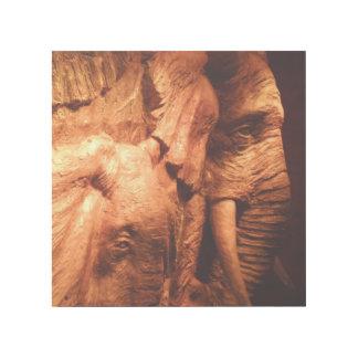 """Holz machte Elefanten 12"""""""" Verpackung der Galerieleinwand"""