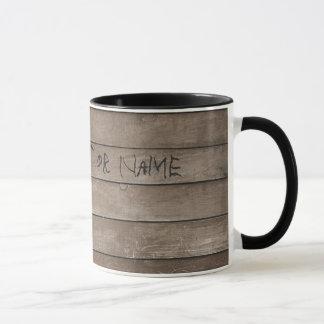 Holz mit graviertem Namen Tasse