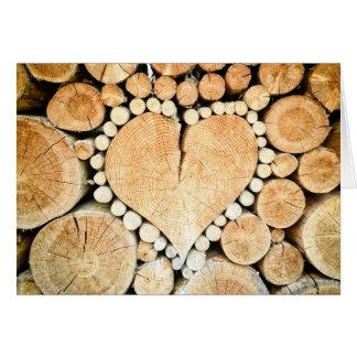 Holz sind Sie meine? Rustikale hölzerne Karte