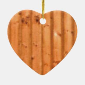 Holz und Defekte Keramik Herz-Ornament