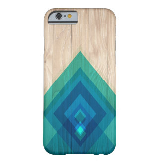 Holz-und Diamant-Telefon-Kasten (Blues) Barely There iPhone 6 Hülle