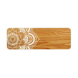 Holz und Mandala