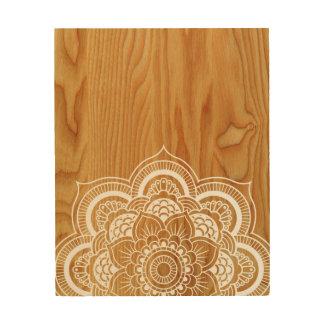 Holz und Mandala Holzleinwand