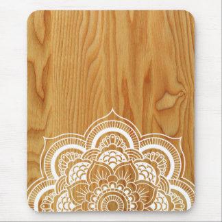 Holz und Mandala Mauspads