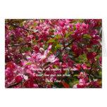 Holzapfel-Blumen mit Dalai- Lamazitat Grußkarte
