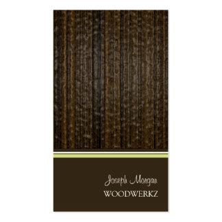 Holzarbeit, Visitenkarten ausbreitend