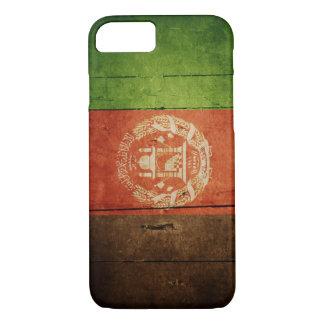 Hölzerne Afghanistan-Flagge; Afghanisch iPhone 8/7 Hülle