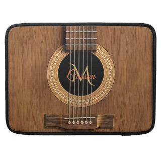Hölzerne Akustikgitarre Macbook Mahagonihülse Sleeve Für MacBooks