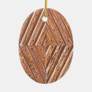 Hölzerne Beschaffenheit Keramik Ornament
