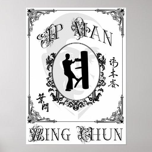 Hölzerne blinde Form - IP-Mann-Flügel Chun Poster