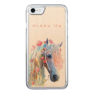 Hölzerne das iPhone 7 des Pferdeliebhabers Carved iPhone 8/7 Hülle