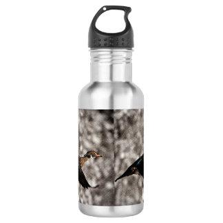 Hölzerne Ente der ursprünglichen Trinkflasche