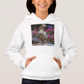Hölzerne Ente mit Blumen Hoodie