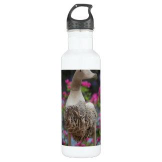 Hölzerne Ente mit Blumen Trinkflasche