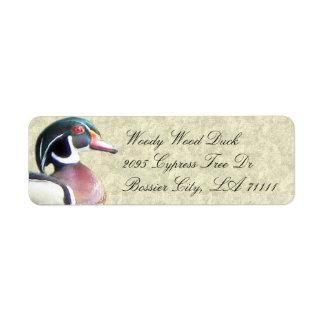 Hölzerne Enten-Adressen-Etiketten