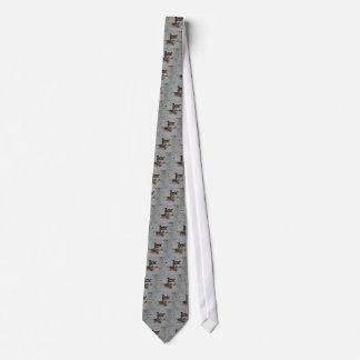 Hölzerne Enten-Grau-Krawatte Bedruckte Krawatte