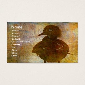 Hölzerne Enten-Henne Visitenkarten