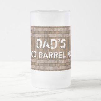 Hölzerne Fass-Tasse Mattglas Bierglas