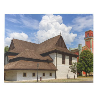 Hölzerne Gelenkkirche in Kezmarok, Slowakei Notizblock