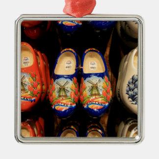 Hölzerne gemalte Klötze, Holland Silbernes Ornament