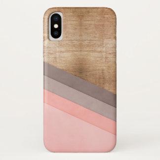 Hölzerne geometrische Kunst iPhone X Hülle