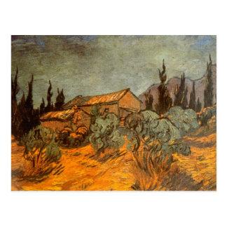 Hölzerne Hallen durch Vincent van Gogh Postkarte
