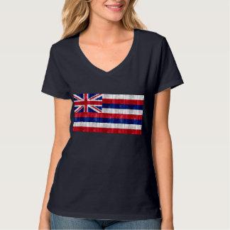 Hölzerne hawaiische Flagge T-Shirt