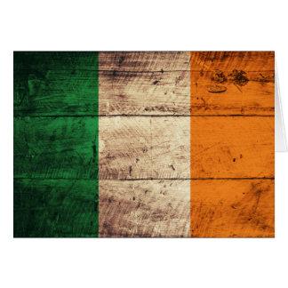 Hölzerne Irland-Flagge Mitteilungskarte