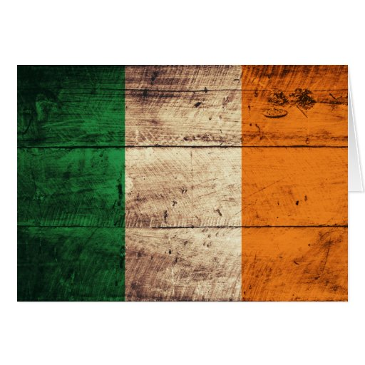 Hölzerne Irland-Flagge Karten