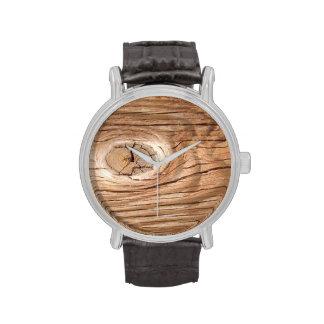 Hölzerne Korn Knothole Uhr