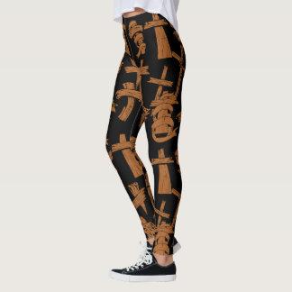 Hölzerne Kreuze Leggings