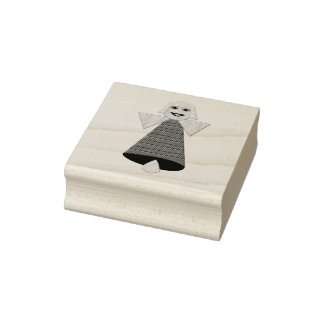 Hölzerne Kunst-Briefmarke Weihnachtsengels-Bell Gummistempel