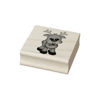 Hölzerne Kunst-Briefmarken/niedliches Baby Rudolph Gummistempel