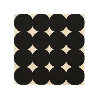Hölzerne Kunst mit schwarzen Flecken