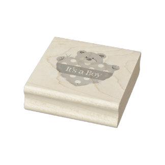 Hölzerne Kunst Stamps/It ist ein Junge mit Gummistempel