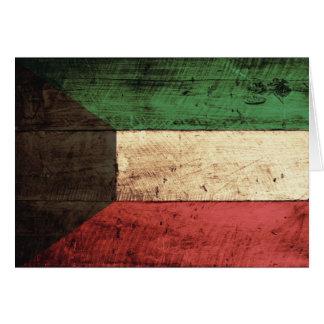 Hölzerne Kuwait-Flagge Karte