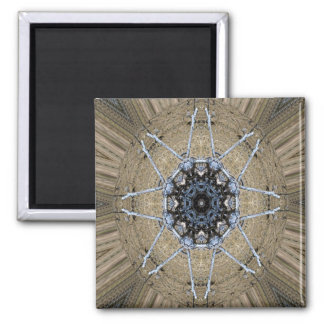 Hölzerne Mandala… Quadratischer Magnet