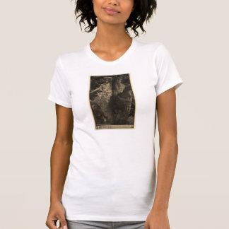 Hölzerne Nymphen-T - Shirt - Sepia
