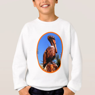 Hölzerne O Orange des Pelikan-die MUSEUM Zazzle Sweatshirt