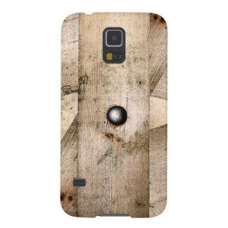Hölzerne Planken und Kasten Bolzen Samsung-Galaxie Samsung Galaxy S5 Cover