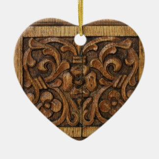 hölzerne Platte Keramik Ornament
