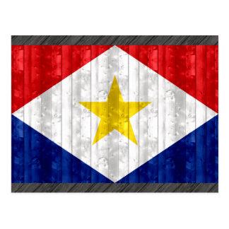 Hölzerne Saban Flagge Postkarte