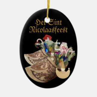 Hölzerne Schuhe: Het Sint Nicolaasfeest - Keramik Ornament
