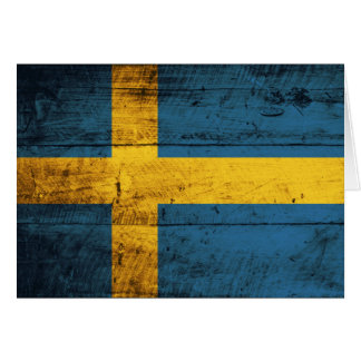 Hölzerne Schweden-Flagge Grußkarte