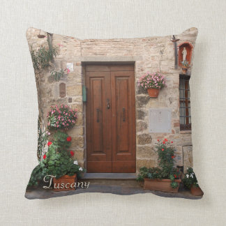 Hölzerne Tür Toskana Italien personalisiert Kissen