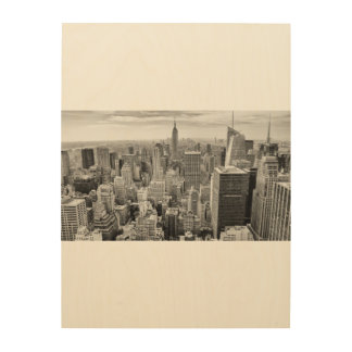 Hölzerne Wand-Kunst NYC Manhattan New York City Holzwanddeko