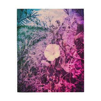 Hölzerne Wand-mit Blumenkunst Holzleinwand